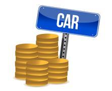 car savings concept - stock illustration