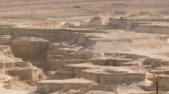 Aerial view of desert area around Dead sea Stock Footage