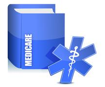 medicare book illustration - stock illustration
