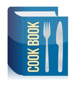 Stock Illustration of cookbook and kitchenware
