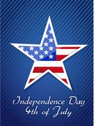 Stock Illustration of 4th july, american independence day concept