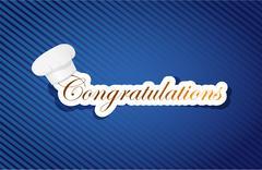 Stock Illustration of congratulation cuisine sign