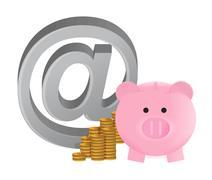Stock Illustration of online savings illustration design