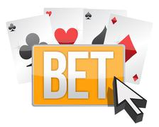 Bet button and cursor Stock Illustration