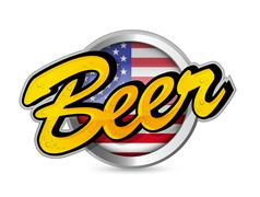 Stock Illustration of american beer poster sign seal