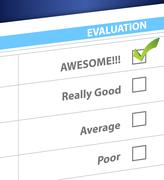 Stock Illustration of awesome result on a survey. illustration