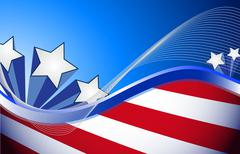 Stock Illustration of us patriotic red white and blue illustration design background