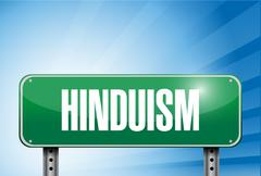 Hinduism religious road sign banner illustration Stock Illustration