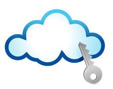 Cloud computing internet security concept Stock Illustration