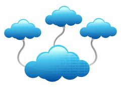 Stock Illustration of cloud computing electronic wifi concept illustration design over white