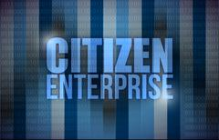 Citizen enterprise business concept Stock Illustration