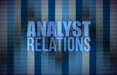 Analyst relations binary Stock Illustration