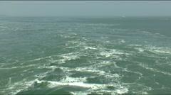 Oosterscheldekering or Eastern Scheldt storm surge Barrier Stock Footage