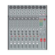 eight channels professional studio sound mixer - stock illustration