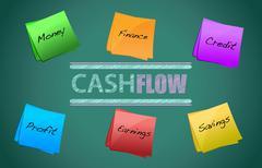 Stock Illustration of cash flow concept