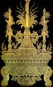 thai gold leaf art - stock photo