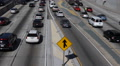 Traffic Jam Congestion Harbor US Freeway California Highway Cars Passing Slowly Footage