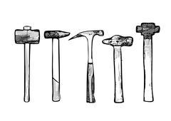 Tool hammer vector illustration Stock Illustration