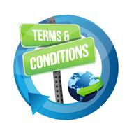 Terms and conditions road sign illustration design over white Stock Illustration