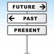 Future signpost Stock Illustration