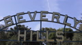 Beverly Hills Gardens Park Sign Iconic Tourists Sightseeing Landmark Los Angeles Footage