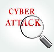 cyber attack concept illustration - stock illustration