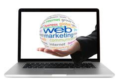 concept of web marketing - stock photo