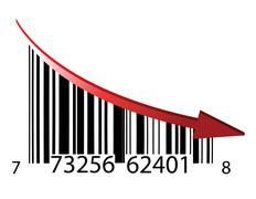 Fail bar code illustration design over a white background Stock Illustration