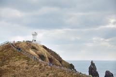 landhead called seobjicoji, famous place in jeju island. - stock photo