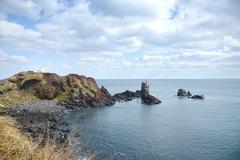 Stock Photo of landhead called seobjicoji, famous place in jeju island.