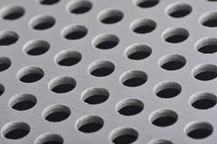 Detail texture of aluminum plate with hole Stock Photos