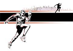 Athletics poster Stock Illustration