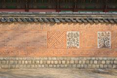 Close-up of korean traditional wall pattern in gyeongbokgung Stock Photos