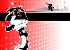 Stock Illustration of skateboarding poster background
