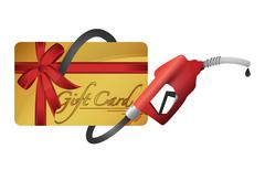 Gift card with a gas pump nozzle Piirros