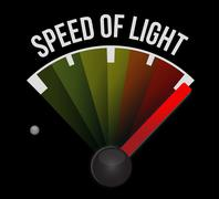 Speed of sound speedometer Stock Illustration