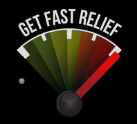 Stock Illustration of get fast relief speedometer