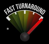 Stock Illustration of fast turnaround speedometer -