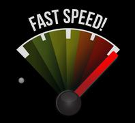 Stock Illustration of fast speed speedometer