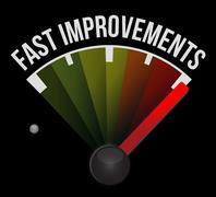 Stock Illustration of fast improvement speedometer