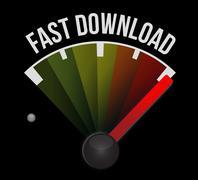 Stock Illustration of fast download speedometer
