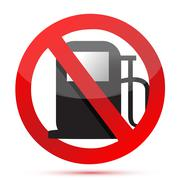 no gasoline. no fuel pump sign - stock illustration