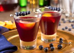 Blueberry cocktail Stock Photos