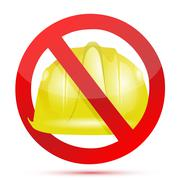 No constructions allow sign illustration design over white Stock Illustration