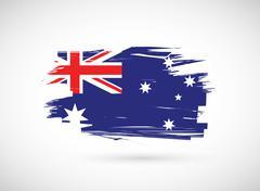 grunge ink australian flag illustration - stock illustration