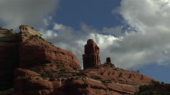 Red Rock Spire Cloud Time Lapse Stock Footage