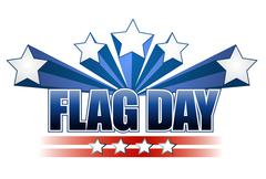 Stock Illustration of us flag day stars illustration design