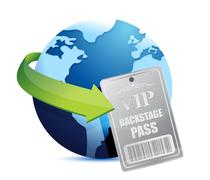 international global backstage pass vip - stock illustration