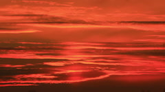 Stock Video Footage of Red dramatic sky  with clouds. Time lapse in red tones
