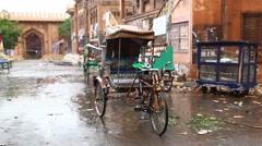 Rickshaw on road Arkistovideo